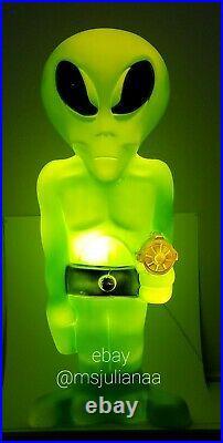LIght Up Green Space Alien Blow Mold 36 General Foam Plastics