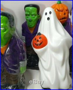 LOT 10 VTG Halloween BLOW MOLD 1995 General Foam Light Toppers 9-10