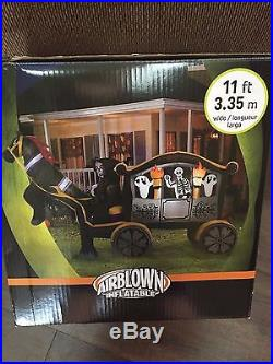 Last New Gemmy 11' Wide Halloween Reaper On Horse & Carriage Airblown/Inflatable