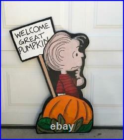 Linus The Great Pumpkin Charlie Brown Peanuts Halloween Yard Decor Free Ship