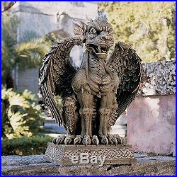 Medieval European Gargoyle Statue Gothic Sentinel Sculpture Garden Lawn Decor