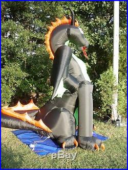 NEW 13' ANIMATED Lighted Dragon withMOVING Wings Halloween Airblown Inflatable-WOW