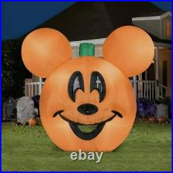 NEW Disney 9.5 FT MICKEY MOUSE PUMPKIN JACK O LANTERN Airblown Inflatable