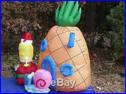 NEW GEMMY 7' Lighted SpongeBob Squarepants Christmas Inflatable Airblown Blowup