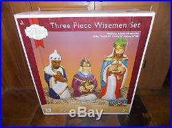 (NIB) 3 Pc Nativity Wisemen Blow Mold Light Up Yard Decor