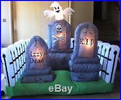 NIB Halloween Graveyard Inflatable Tombstones Ghost Light Up Yard Decoration
