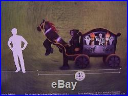 New 11 ft. Halloween Grim Reaper Horse Drawn Carriage Yard Airblown Inflatable