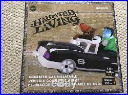 New Animated Black Cadillac Car Inflatable Halloween Frankenstein Dracula LED
