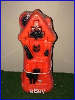 New Vtg Empire Sealed Halloween 17 Lighted Blow Mold Haunted House Decoration