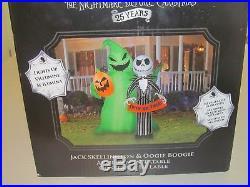 Nightmare Before Christmas Jack Skellington Oogie Boogie Inflatable Halloween