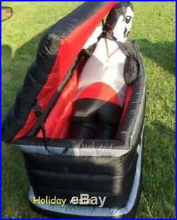 Original GEMMY ANIMATED VAMPIRE RISING FROM COFFIN Airblown Yard Inflatable