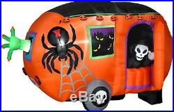 Outdoor Halloween Inflatable Animated Airblown Grim Reaper Camper Decoration