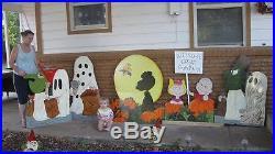 Peanuts Great pumpkin yard art custom 7pc set 29 inches