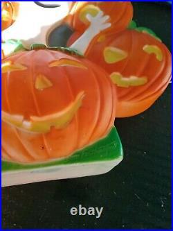 Pumpkin Wreath Ghost Lighted Halloween Blow Mold 18 Union DON FEATHERSTONE