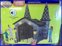 RARE! 11' Twin Tower Haunted House Halloween Airblown Inflatable Yard Decor