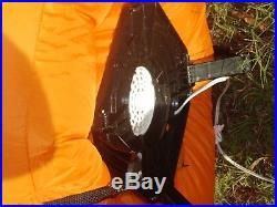 RARE GEMMY 8' Lighted Halloween Pac Man Ghost Pumpkin Inflatable Airblown BlowUp