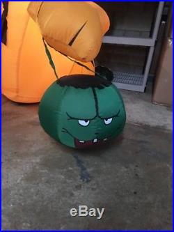 RARE Gemmy Garfield Halloween airblown inflatable blow up In Box