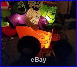 RARE Gemmy Hot Rod Airblown Inflatable Mummy, Witch, Frankenstein
