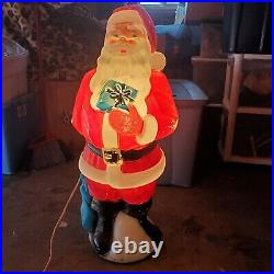 RARE Vintage Blow mold Nativity 9pc Large Set Indoor Outdoor Christmas