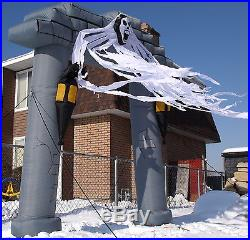 Rare Airblown Inflatable Ghost Arch with lanterns and bats Halloween