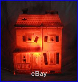 Rare Don Featherstone Haunted House Light Up Halloween Blow Mold