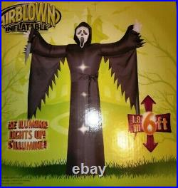 Rare Gemmy 6ft Airblown Scream Ghost Face Yard Inflatable