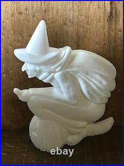 Rare Old Vintage Halloween Plastic Blowmold Blow Mold Witch Union Featherstone
