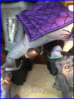Rare Original Gemmy 12.5' Halloween Airblown Inflatable Haunted House