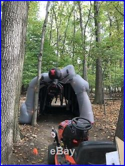 Rare Spider Archway Airblown Inflatable Halloween Used Tunnel Strobe Cave Gemmy