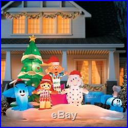 Rudolphs Island of Misfit Toys Huge Inflatable Set Outdoor Christmas Decoration
