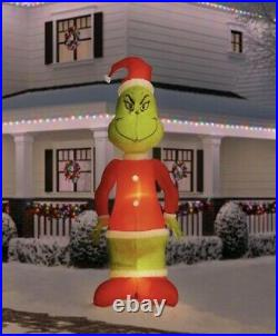 SHIPS TODAY 10ft Inflatable Giant Grinch with Fuzzy Plush Fabric by Dr. Seuss