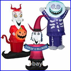 SHOCK LOCK AND BARREL FROM NIGHTMARE BEFORE CHRISTMAS Airblown Yard Inflatable