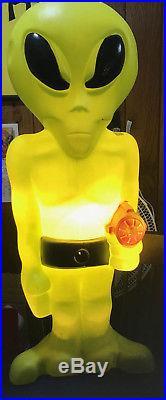 SUPER RARE 36 Green Space ALIEN Plastic LIGHT UP Blow Mold Figure Halloween