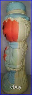 Scarecrow Pumpkin Trick or Treat 34 Halloween Blow Mold Vintage! A11