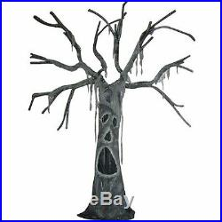 Self Standing Haunted Tree with Open Mouth Creepy Halloween Outdoor Decor Prop