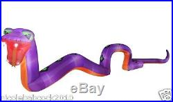 THE 20 FOOT REAPER SNAKE COBRA With FANGS AIRBLOWN INFLATABLE YARD DECOR PROP