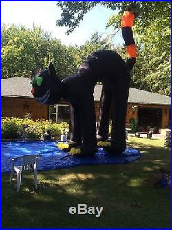 TWO STORY INFLATABLE BLACK CAT, Animated, Head Rotates FOR HALLOWEEN