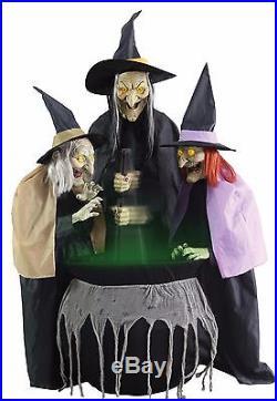 Three Witches Halloween Yard Decor Prop