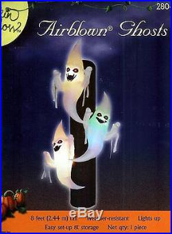 Trio of Ghosts 8 Ft. Halloween Airblown Inflatable! Brand NEW! VERY RARE