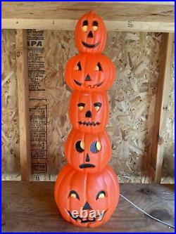 Union Products Blow Mold Lighted Stacking Pumpkins