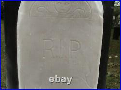 Union Products Halloween Blow Mold Lighted Skeleton with Tombstone Vintage 1997