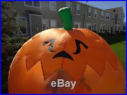 VIDEO Airblown Inflatable Halloween Rotating Globe Pumpkin Witch Ghost Carousel