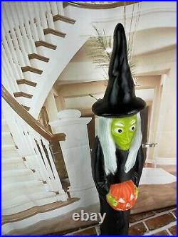 Vintage 1994 Union Don Featherstone Halloween Witch Light 3 FT Blow Mold