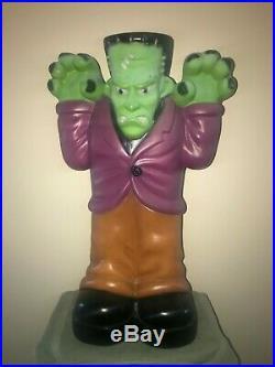 Vintage 36 Halloween Frankenstein Lighted Blow Mold Yard Decoration