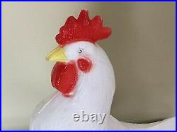 Vintage Blow Mold Rooster Union Products Unused