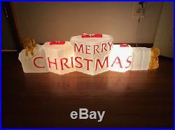 Vintage Christmas Union MERRY CHRISTMAS Blow Mold Decor Don Featherstone
