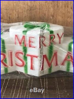 Vintage Christmas Union MERRY CHRISTMAS Blow Mold Decor Don Featherstone Unused