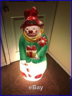 Vintage Empire 40 Snowman Clown Blow Mold