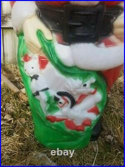 Vintage Empire Giant 46 Santa Claus Bag Toy Gift Lawn Yard Blow Mold Light Up