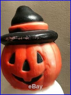 Vintage Empire Halloween 32 Totem Blow Mold Black Cat Ghost Skull Pumpkin JOL